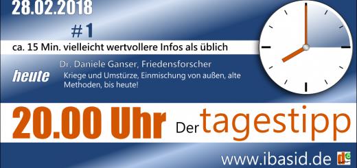 ibasid - tagestipp #1 - 28.02.2018 - Dr. Daniele Ganser Friedensforscher